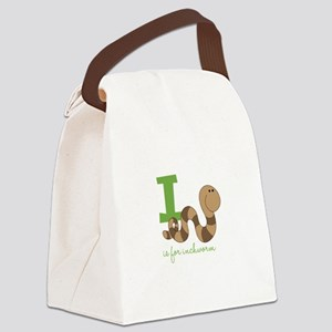 I Is For Inchworm Canvas Lunch Bag
