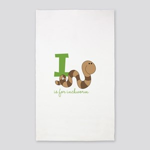 I Is For Inchworm 3'x5' Area Rug