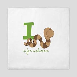 I Is For Inchworm Queen Duvet