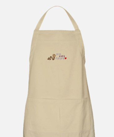 Give Me An Inch & I'll Give You My Heart Apron