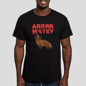 Pirate Dachshund Men's Fitted T-Shirt (dark)