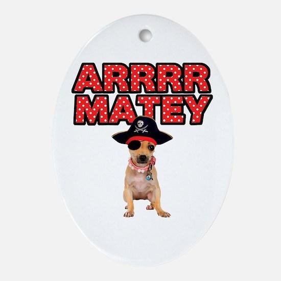 Pirate Chihuahua Ornament (Oval)