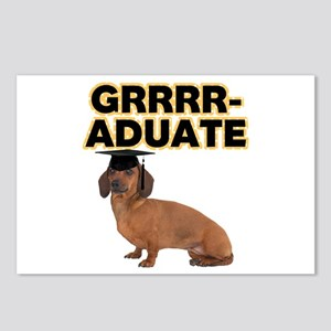 Graduation Dachshund Postcards (Package of 8)