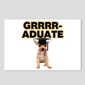 Graduation Chihuahua Postcards (Package of 8)