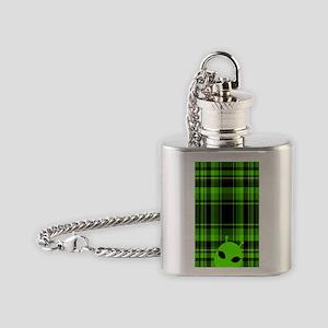 Peeking Alien UFO Flask Necklace