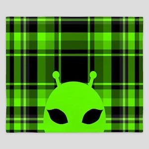 Peeking Alien UFO King Duvet