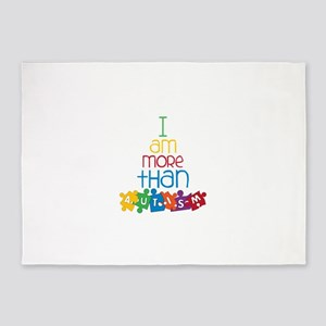 I Am More Than Autism 5'x7'Area Rug