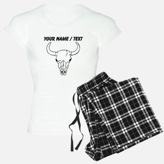 Custom Longhorn Skull Pajamas