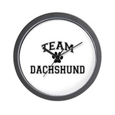 Team Dachshund Wall Clock