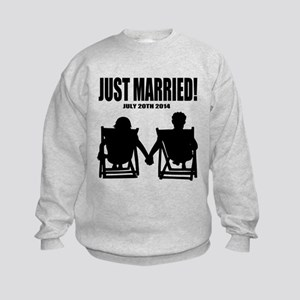 Just Married | Personalized wedding Sweatshirt