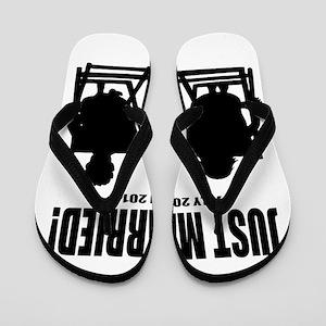 Just Married | Personalized wedding Flip Flops