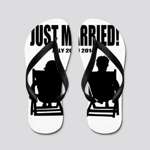 9762f4aad6efa3 Bride And Groom Flip Flops - CafePress