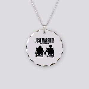 Just Married | Personalized wedding Necklace