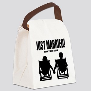 Just Married | Personalized wedding Canvas Lunch B