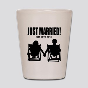 Just Married | Personalized wedding Shot Glass