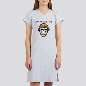 Custom Soldier Skull Women's Nightshirt