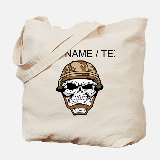 Custom Soldier Skull Tote Bag