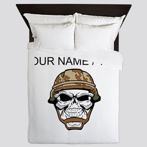 Custom Soldier Skull Queen Duvet