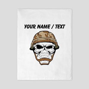 Custom Soldier Skull Twin Duvet