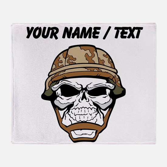 Custom Soldier Skull Throw Blanket