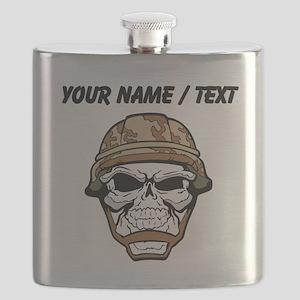 Custom Soldier Skull Flask