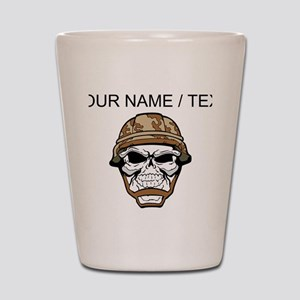 Custom Soldier Skull Shot Glass