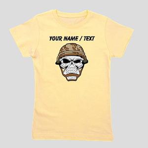 Custom Soldier Skull Girl's Tee