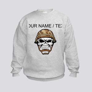 Custom Soldier Skull Sweatshirt