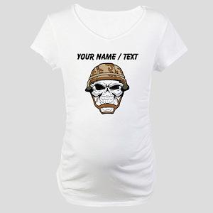 Custom Soldier Skull Maternity T-Shirt