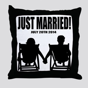 Just Married | Personalized wedding Throw Pillow