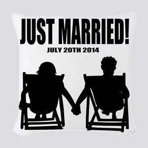 Just Married | Personalized wedding Woven Throw Pi