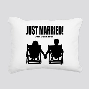 Just Married | Personalized wedding Rectangular Ca