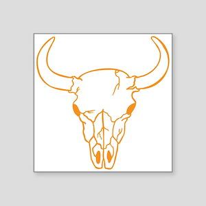 Orange Longhorn Skull Sticker