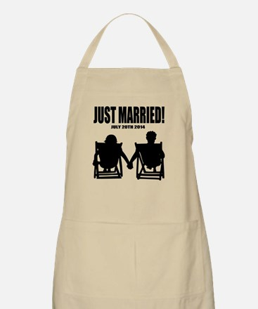 Just Married   Personalized Newlyweds Bbq Apron