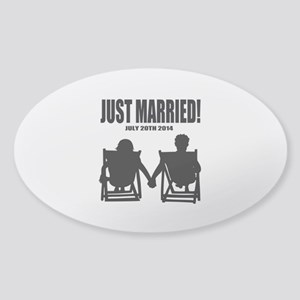 Just Married | Personalized wedding Sticker