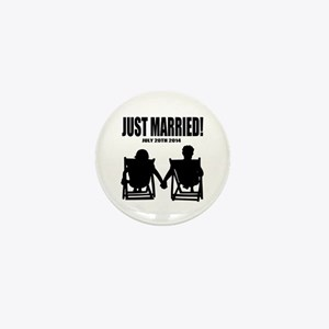Just Married | Personalized wedding Mini Button