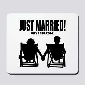 Just Married | Personalized wedding Mousepad