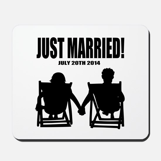 Just Married   Personalized wedding Mousepad