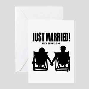 Just Married | Personalized wedding Greeting Cards