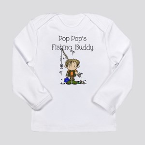 Pop Pop's Fishing Buddy Long Sleeve Infant T-Shirt