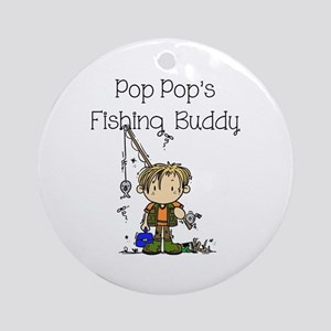 Pop Pop's Fishing Buddy Ornament (Round)