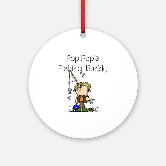 Pop Pop's Fishing Buddy Ornament (Round)