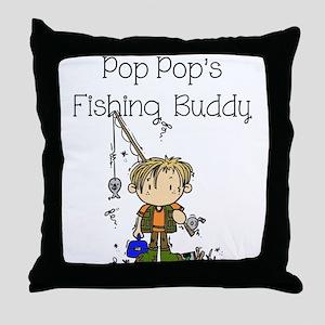 Pop Pop's Fishing Buddy Throw Pillow
