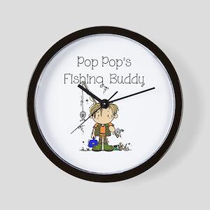 Pop Pop's Fishing Buddy Wall Clock