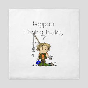 Poppa's Fishing Buddy Queen Duvet