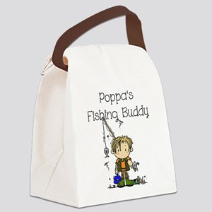 Poppa's Fishing Buddy Canvas Lunch Bag
