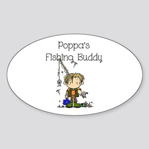 Poppa's Fishing Buddy Sticker (Oval)