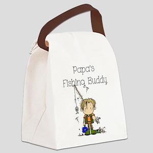 Papa's Fishing Buddy Canvas Lunch Bag