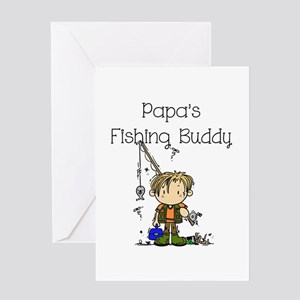 Papa's Fishing Buddy Greeting Card