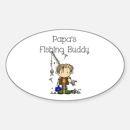 Papa's Fishing Buddy Sticker (Oval)